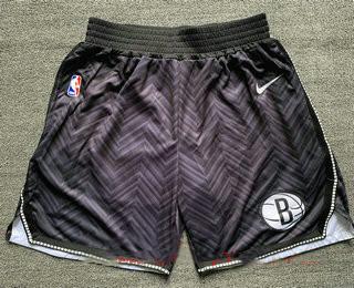 Men's Brooklyn Nets Black Nike Swingman 2021 Earned Edition Stitched Shorts