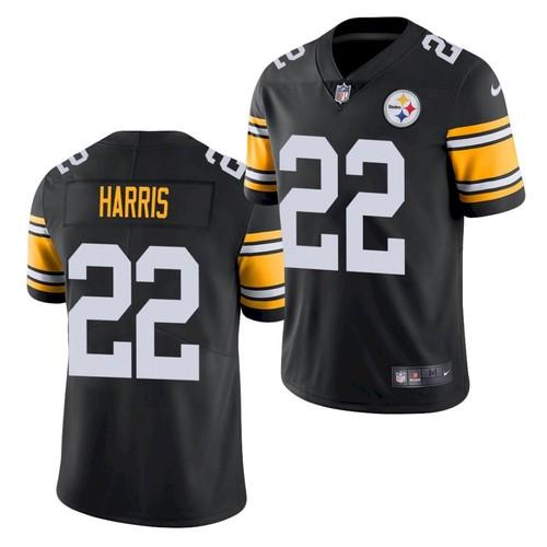 Men's Pittsburgh Steelers #22 Najee Harris Black 2021 Limited Football Jersey