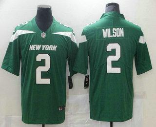 Men's New York Jets #2 Zach Wilson Green 2021 Vapor Untouchable Stitched NFL Nike Limited Jersey