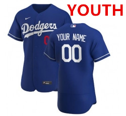 Youth Nike los angeles dodgers blue flex base custom jersey