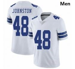 Men Dallas Cowboys Daryl Johnston 84 Nike Vapor White Limited Jersey