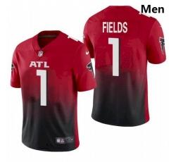 Men Atlanta Falcons #1 Justin Fields Red 2021 Draft Jersey