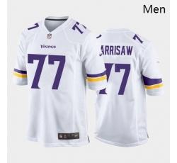 Men Minnesota Vikings #77 Christian Darrisaw Purple White 2021 Draft Jersey
