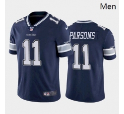 Men Dallas Cowboys #11 Micah Parsons Blue 2021 Draft Jersey
