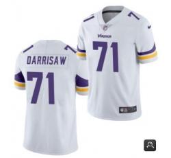 Men Minnesota Vikings #71 Christian Darrisaw White 2021 Vapor Untouchable Limited Stitched NFL Jersey