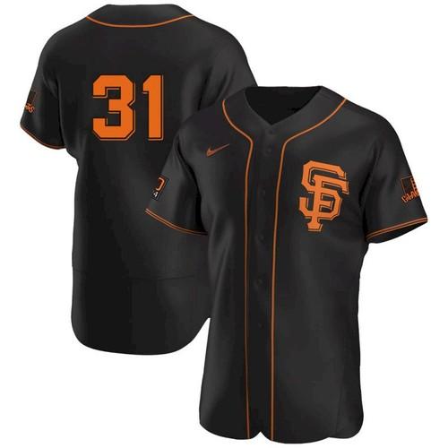 Men's San Francisco Giants #31 LaMonte Wade Jr Black 2021 Alternate Jersey