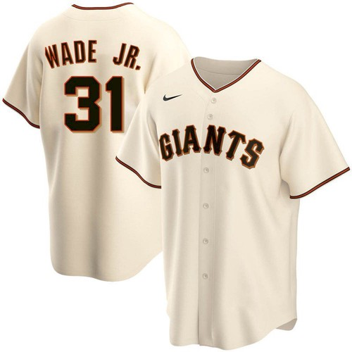 Men's San Francisco Giants 31 LaMonte Wade Jr Cream 2021 Replica Home Jersey