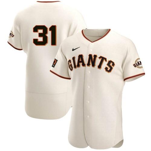 Men's San Francisco Giants #31 LaMonte Wade Jr Cream 2021 Home Player Jersey