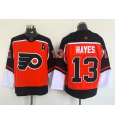 Men's Philadelphia Flyers #13 Kevin Hayes Orange 2021 Reverse Retro Authentic Jersey