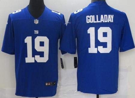 Men's New York Giants #19 Kenny Golladay Blue 2021 Vapor Untouchable Stitched NFL Nike Limited Jersey