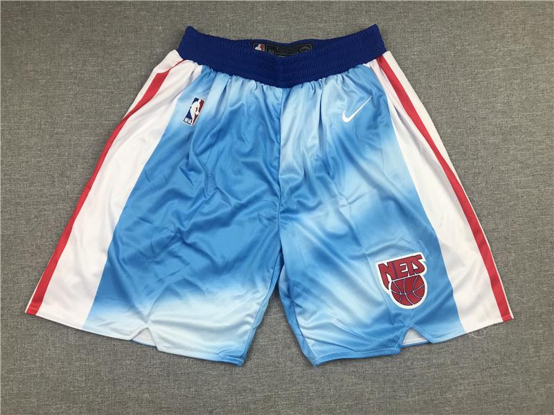Men's Brooklyn Nets Blue Nike 2020-21 Hardwood Classics Stitched NBA Shorts
