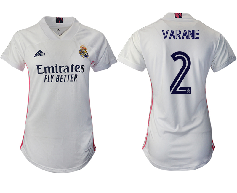 Women 2020-2021 Real Madrid home aaa version 2 white Soccer Jerseys