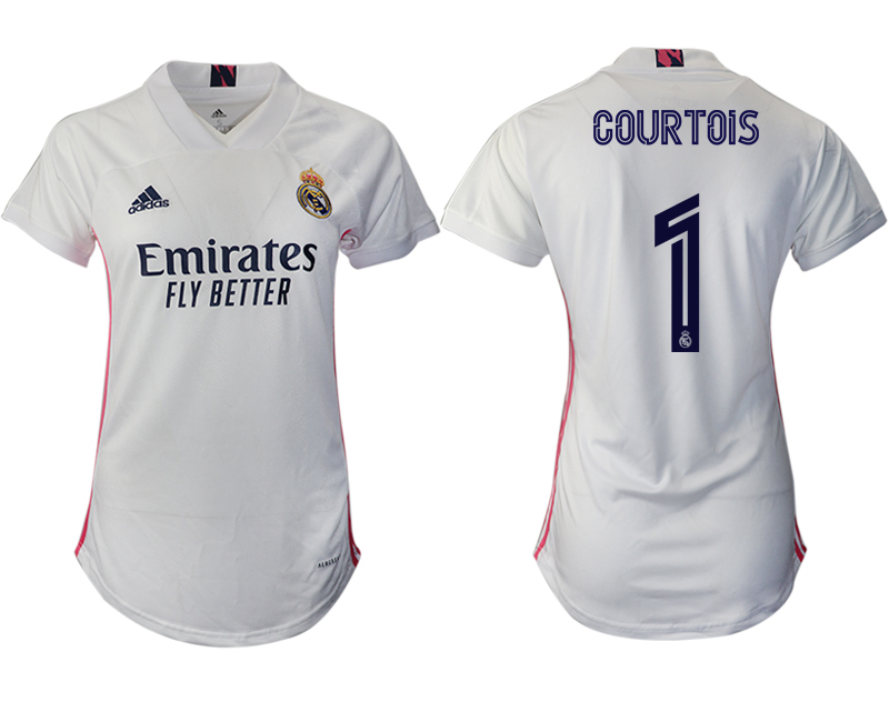 Women 2020-2021 Real Madrid home aaa version 1 white Soccer Jerseys