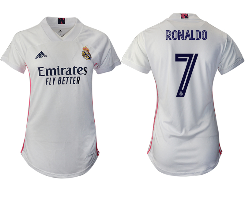 Women 2020-2021 Real Madrid home aaa version 7 white Soccer Jerseys1