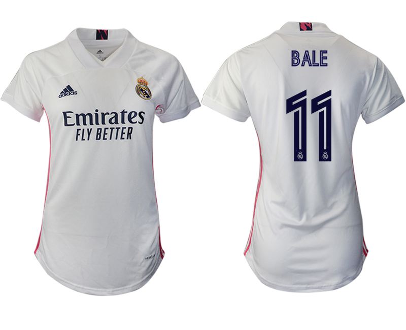 Women 2020-2021 Real Madrid home aaa version 11 white Soccer Jerseys1