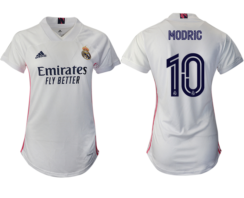 Women 2020-2021 Real Madrid home aaa version 10 white Soccer Jerseys