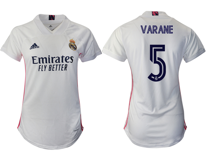 Women 2020-2021 Real Madrid home aaa version 5 white Soccer Jerseys