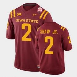 Men Iowa State Cyclones #2 Sean Shaw Jr. 2021 Fiesta Bowl Cardinal College Football Jersey