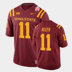 Men Iowa State Cyclones #11 Chase Allen 2021 Fiesta Bowl Cardinal College Football Jersey