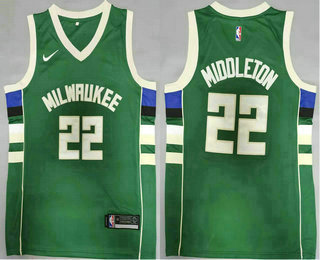 Men's Milwaukee Bucks #20 Khris Middleton Green 2021 Nike Swingman Stitched Jersey
