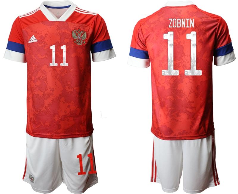 Men 2021 European Cup Russia red home 11 Soccer Jerseys