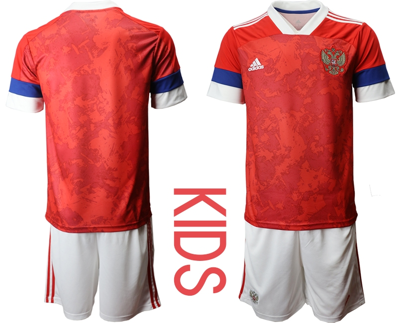 Youth 2021 European Cup Russia red home Soccer Jerseys