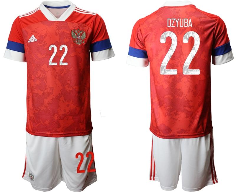 Men 2021 European Cup Russia red home 22 Soccer Jerseys