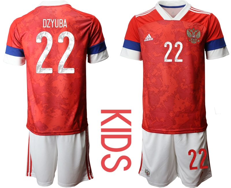 Youth 2021 European Cup Russia red home 22 Soccer Jerseys