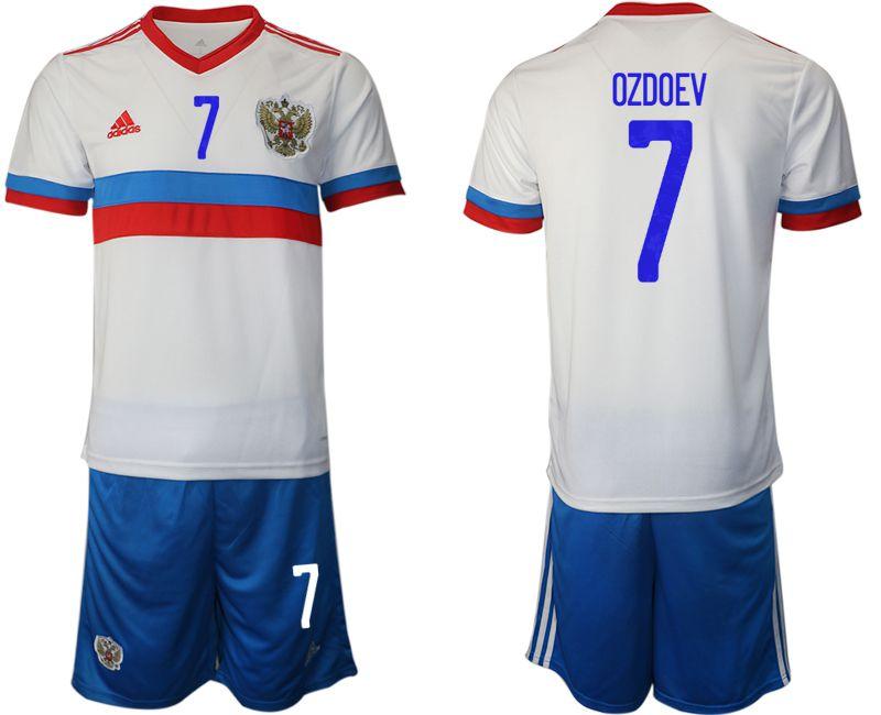 Men 2020-2021 European Cup Russia away white 7 Adidas Soccer Jersey