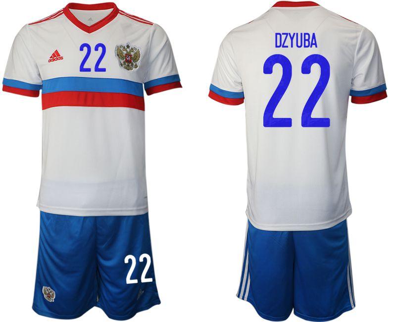 Men 2020-2021 European Cup Russia away white 22 Adidas Soccer Jersey