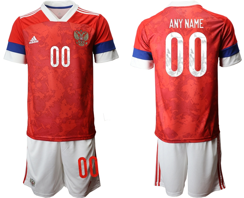 Men 2021 European Cup Russia red home customized Soccer Jerseys