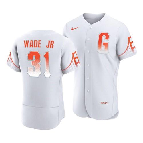 San Francisco Giants #31 LaMonte Wade Jr White 2021 City Connect MLB Flex Base Nike Jersey