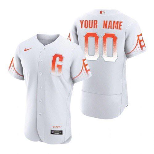Men's San Francisco Giants #00 Custom White 2021 City Connect MLB Flex Base Nike Jersey