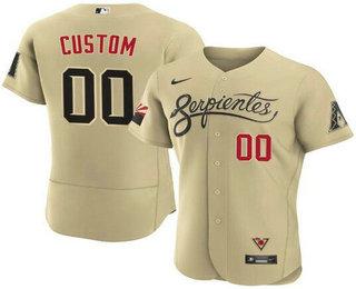 Men's Arizona Diamondbacks ACTIVE PLAYER Custom 2021 Gold City Connect Flex Base Stitched MLB Jersey