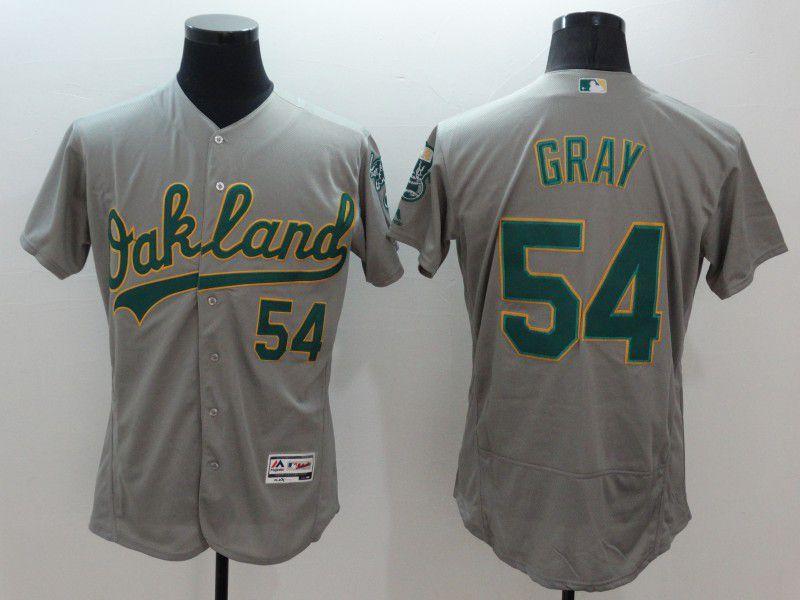 Men Oakland Athletics 54 Gray Grey Elite 2021 MLB Jerseys