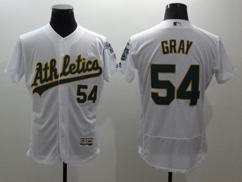 Men Oakland Athletics 54 Gray White Elite 2021 MLB Jerseys
