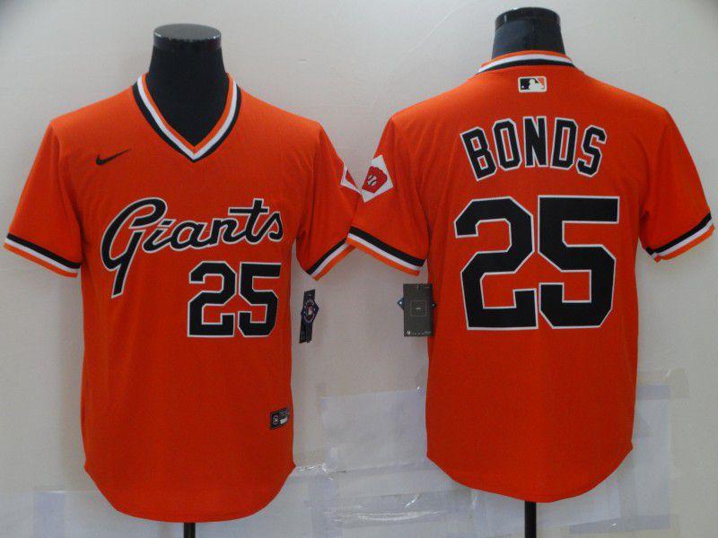 Men San Francisco Giants 25 Bonds Orange Game Nike 2021 MLB Jersey