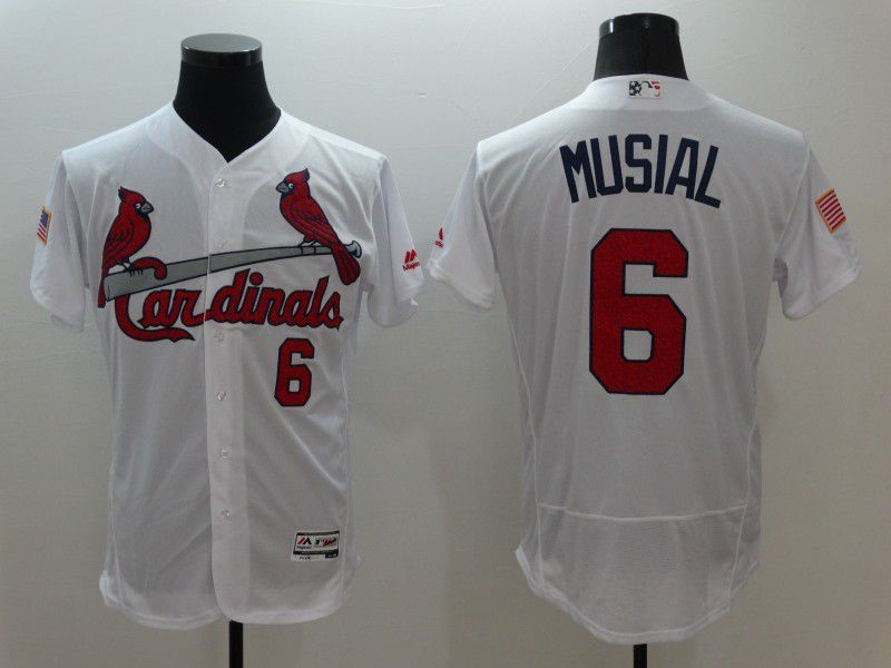 Men St.Louis Cardinals 6 Musial White Elite Independent Edition 2021 MLB Jerseys