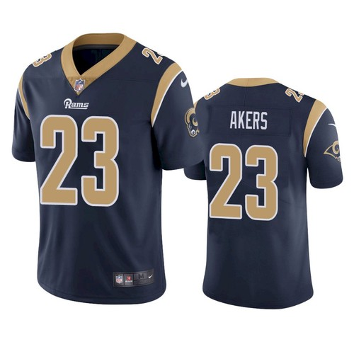 Nike Los Angeles Rams #23 Cam Akers Navy Blue Team Color Men's Stitched NFL Vapor Untouchable Limited Jersey