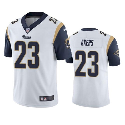 Nike Los Angeles Rams #23 Cam Akers White Men's Stitched NFL Vapor Untouchable Limited Jersey