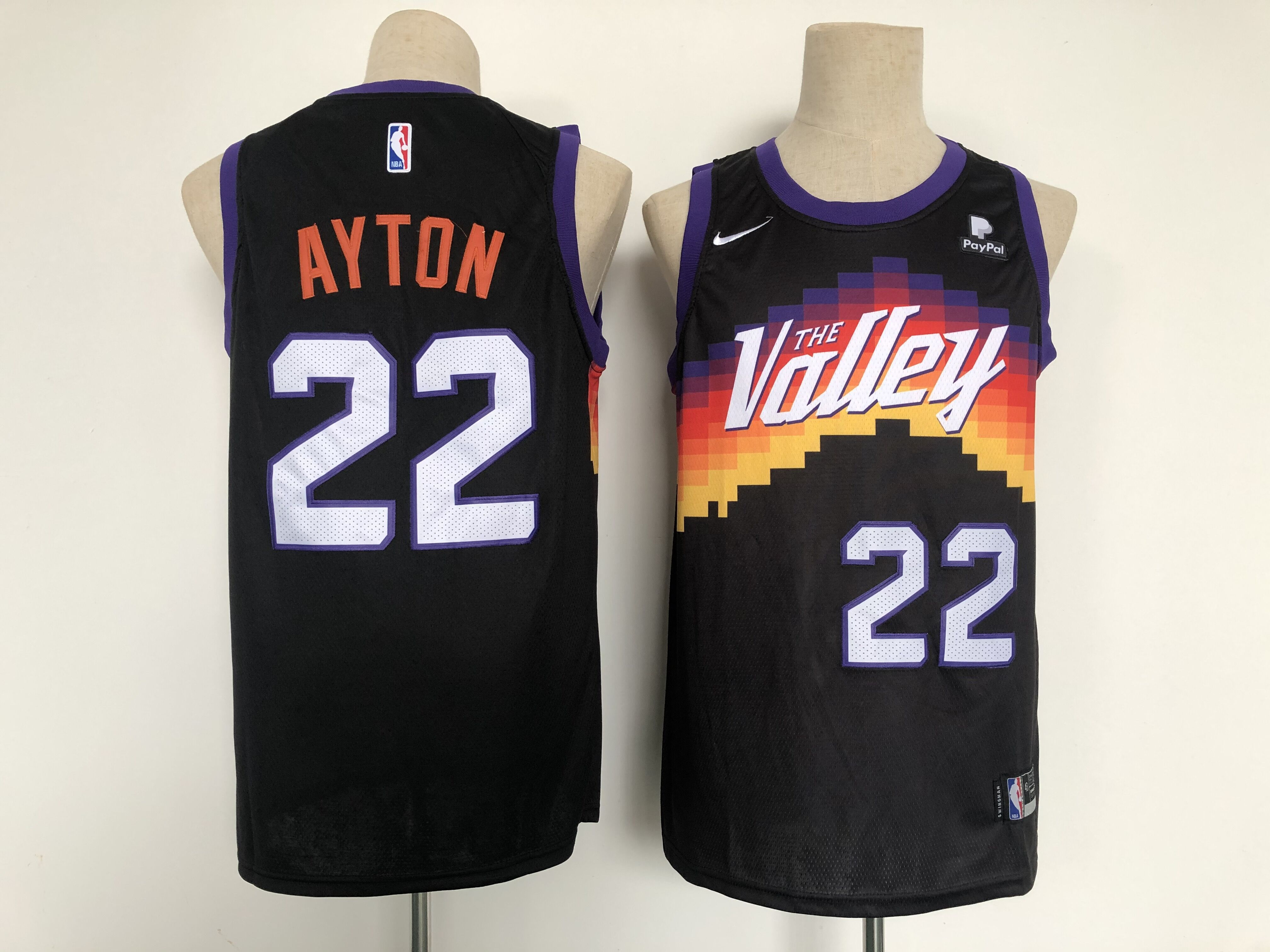 Men Phoenix Suns 22 Ayton Black City Edition Nike 2021 NBA Jersey