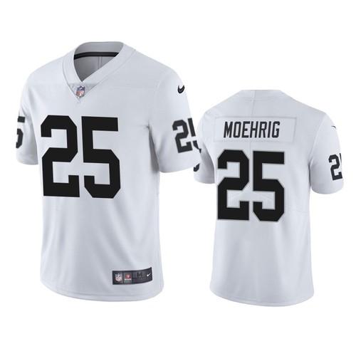 Men's Las Vegas Raiders #25 Trevon Moehrig White Vapor Limited Nike Jersey
