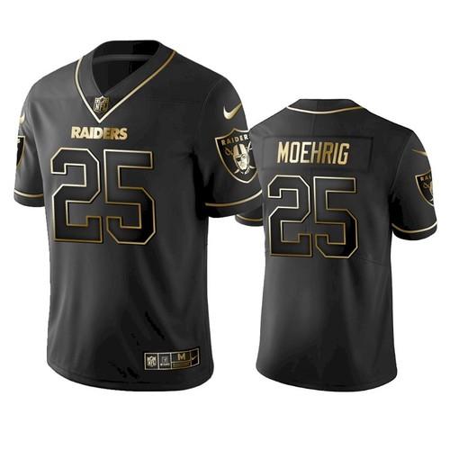 Men's Las Vegas Raiders #25 Trevon Moehrig Black Golden Edition Vapor Limited Nike Jersey