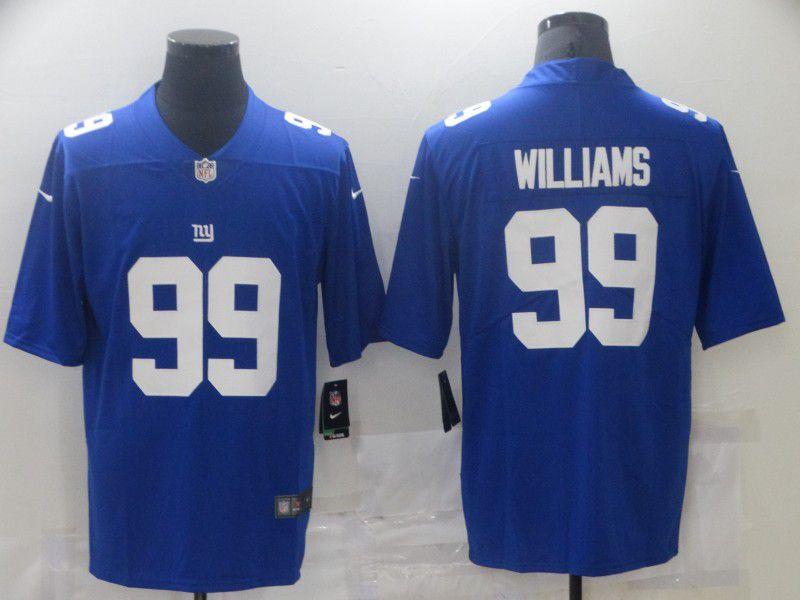 Men New York Giants 99 Williams Blue Nike Vapor Untouchable Limited 2021 NFL Jersey