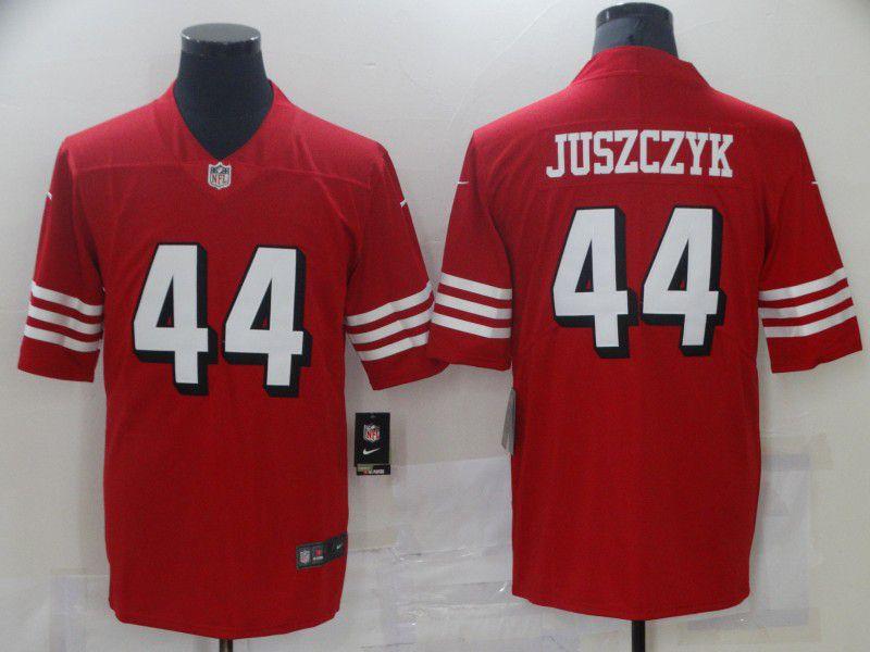 Men San Francisco 49ers 44 Juszczyk Red Nike Vapor Untouchable Limited 2021 NFL Jersey