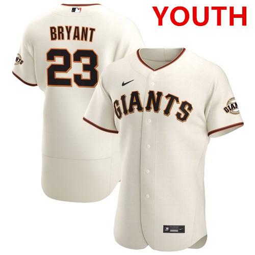 Youth san francisco giants #23 kris bryant cream flex base nike jersey