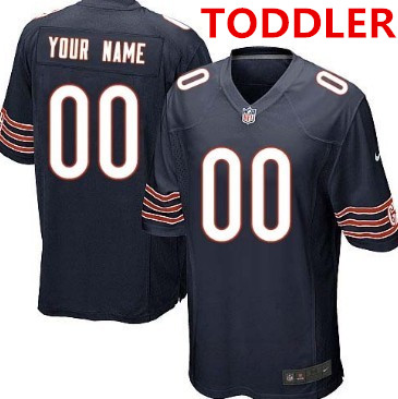 Toddler nike chicago bears customized blue game jersey
