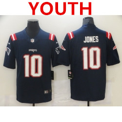 Youth new england patriots #10 mac jones navy 2021 draft vapor limited jersey