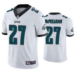 Men Philadelphia Eagles #27 Zech McPhearson Vapor Limited White Jersey