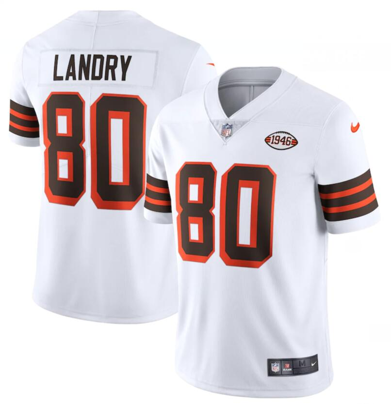 Nike Browns 80 Jarvis Landry White 1946 Collection Alternate Vapor Limited Jersey